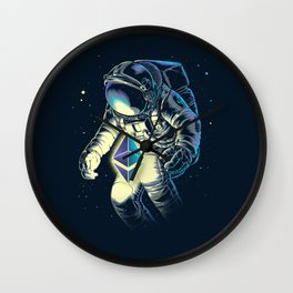 Space Ethereum - Navy Version Wall Clock