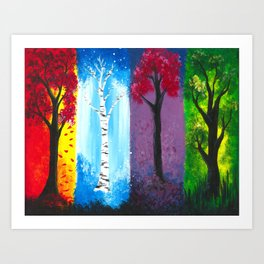 Seasons of Color Art Print