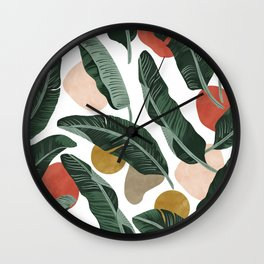 Modern banana leaf Wall Clock