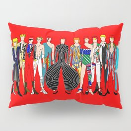 Starman on Red Pillow Sham