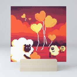 Helping Sheep Snding Love Mini Art Print