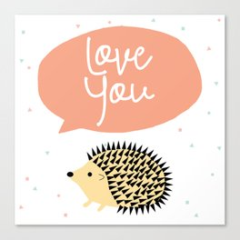 Hedgegog love Canvas Print