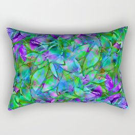 Floral Abstract Stained Glass G295 Rectangular Pillow