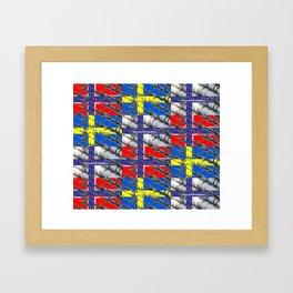Triple Nordic Framed Art Print