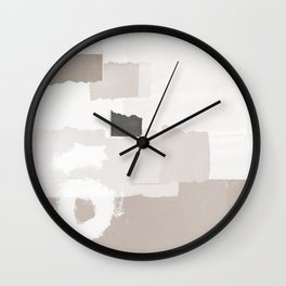 Keyhole Paper Collage Wall Clock