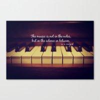 mozart Canvas Prints featuring Mozart Music by KimberosePhotography
