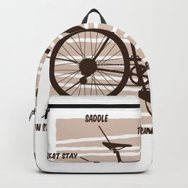 Bike and Bicylce Definition | Cycling Gift Backpack