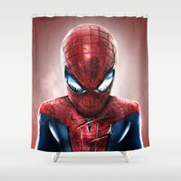 heroes Shower Curtains featuring HEROES SERIES by NOXBIL