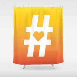 Hashtag Heart Shower Curtain