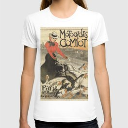 1899 vintage French motorcycle ad by Steinlen T-shirt