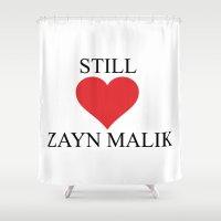 zayn malik Shower Curtains featuring Still Love Zayn Malik by Sutan Comfort tees