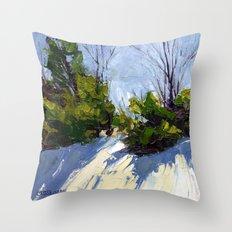 Shadows in the Snow Throw Pillow
