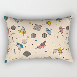 Memphis Inspired Pattern 9 Rectangular Pillow