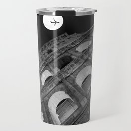 Colosseum in Rome Black and White Travel Mug