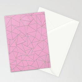 Ab Out Double Pink and Grey Stationery Cards