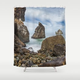 Sliding Away Shower Curtain