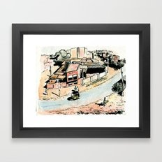 La rue - The street Framed Art Print