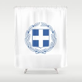 Coast of arms of Greece Shower Curtain