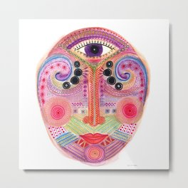 the all seing tranquility mask Metal Print