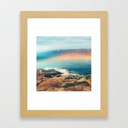 Colours of the sea Framed Art Print