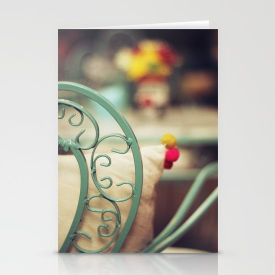 The chair and the pillow Stationery Cards