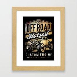 Off road Hotrod, Offroad car, auto, classic custom suv Framed Art Print