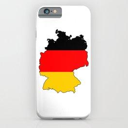 German Flag Map iPhone Case