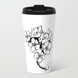 Cherry Blossom Ink Drawing  Travel Mug