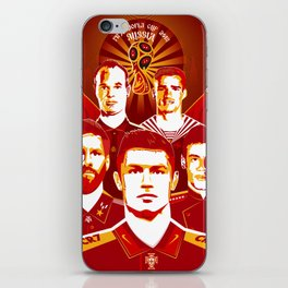 Russia football poster iPhone Skin