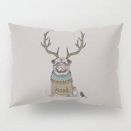 Deer Pug Pillow Sham