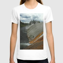 Thermal Geyser Runoff Into Firehole River T-shirt