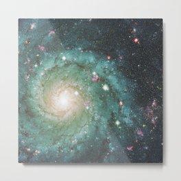Old School Spiral Galaxy Metal Print