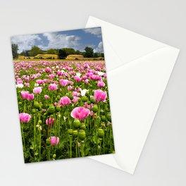 Poppy fields in Holland Stationery Cards