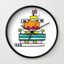 Big Smile Robot Wall Clock