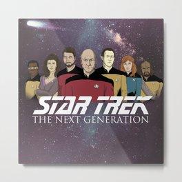 Star Trek: The Next Generation Crew/updated Metal Print