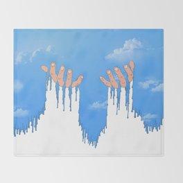 Le ciel coule sur mes mains Throw Blanket