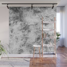 Black and white abstract pattern. waves Wall Mural