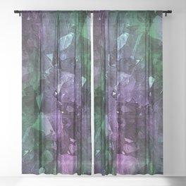 Crystal Geode Sheer Curtain