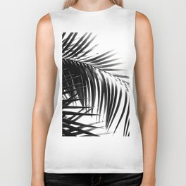 Palm Leaves Black & White Vibes #3 #tropical #decor #art #society6 Biker Tank
