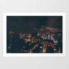 Caracas at Night Art Print