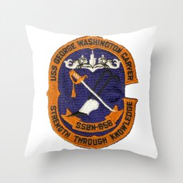 USS GEORGE WASHINGTON CARVER (SSBN-656) PATCH Throw Pillow