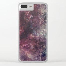 acrylic grunge Clear iPhone Case