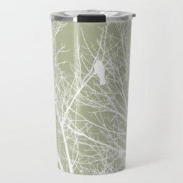 White Bird in White Tree - Moss A593 Travel Mug