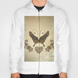 Beautiful elegant butterflies with heart Hoody