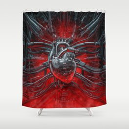 Heart Of The Gamer Shower Curtain