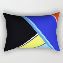Happy Hues Modern Colorblock Pattern - Black Rectangular Pillow