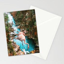 Flamingo Forest #society6 #decor #buyart Stationery Cards