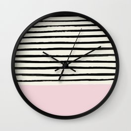 Bubblegum x Stripes Wall Clock