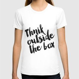 Think Outside The Box, Typography Print, Typography Art, Minimalist Poster, Simple T-shirt
