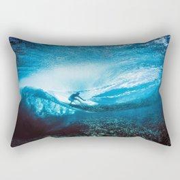 Wave Series Photograph No. 24 - Beneath the Surface Rectangular Pillow